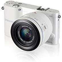 Samsung NX1100 Smart WiFi Digital Compact System Camera - White (20.3MP, 20-50mm Lens Kit)