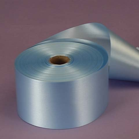 Pastel Blue Embossed Poly Satin Ribbon, 2-3/4 X 100 Yards by Paper Mart -