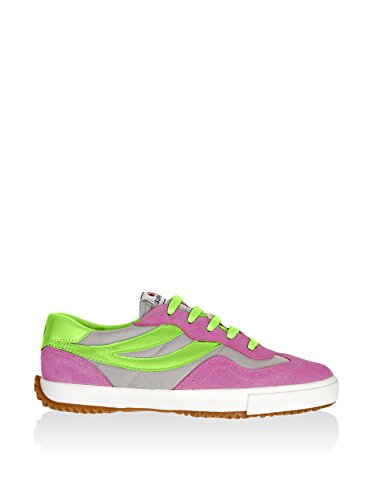 Superga  2832 Nylu, Sneakers Basses Unisexe adulte- Fuxia-Grey-AcidGreen