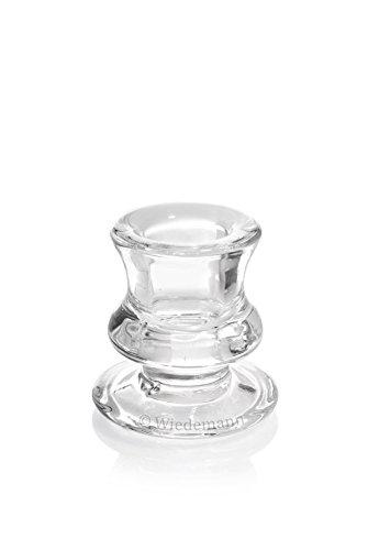 Kerzenleuchter Leuchter aus Glas für Spitzkerzen 60 x 50 mm