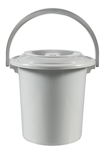 Curver - Seau toilette - 10 ltr - Ø 31 cm - Gris clair