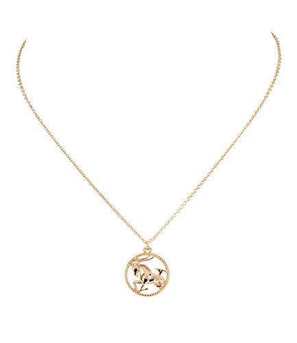 Sternzeichen, Steinbock, Statement Kette, Anhänger, Symbol, Gold (758-934) ()