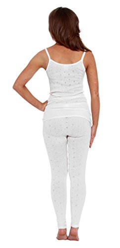 Leggings bianchi in tessuto termico Bianco