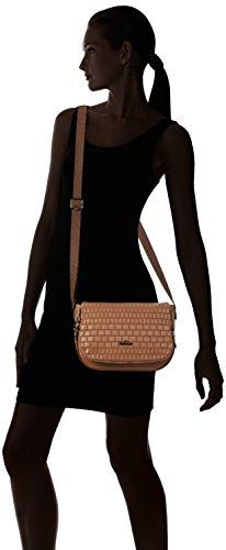 Kipling Damen Earthbeat S Umhängetasche, 26x17x7 cm Braun (Tan Weave)