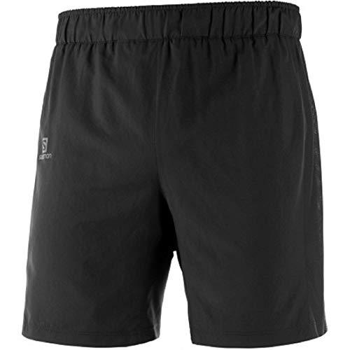 Salomon Herren Agile 2in1, 2-in-1 Lauf-Shorts Black, S