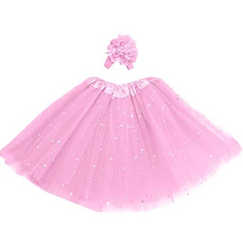 ock Mädchen Ballett Röcke Tutu Rock Ballettrock Tütü Tüllrock für Party Mädchen Kostüm Ballettrock Classic Bekleidung ()