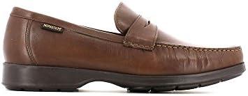 Mephisto HOWARD DESERT 9251 DARK BROWN - Zapatillas de casa de cuero hombre
