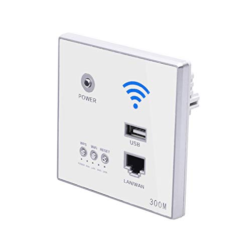 XZANTE 300 Mbps Wand Router 110 V / 220 V Leistung Relais Intelligente Drahtlos WiFi Repeater Extender Wand Eingebettete 2,4 Ghz Router Panel USB Buchse Wei? -