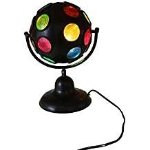 Bola de luces de discoteca de sobremesa, con función giratoria (E14), color negro [version:x8.4] by DELIAWINTERFEL