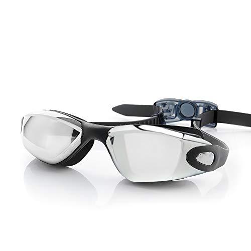 YoJetSing Schwimmbrille Swimming Goggles mit Anti Beschlag und UV Schutz geeignet für Mann, Frau und Anfänger (Schwarz)