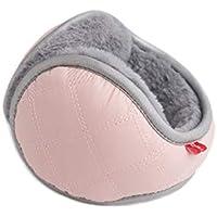 SUPRERHOUNG Las Orejeras de Moda Impermeable a Prueba de Agua Orejeras Calentadores de oído térmicos de Invierno para Adultos Hombres (Gris) (Color : Pink, tamaño : 14cm)