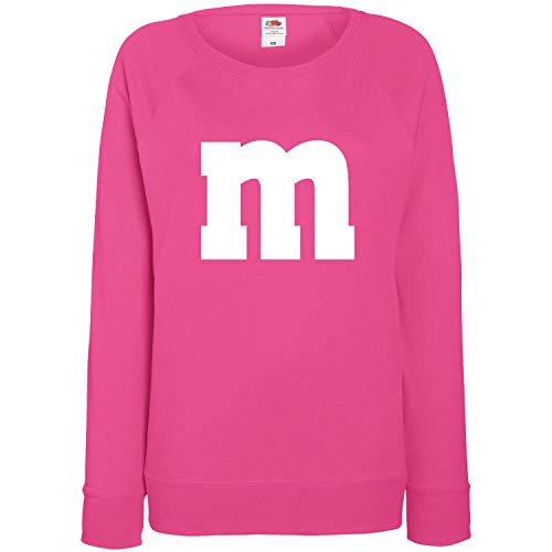 Panda Kostüm Pink - Shirt-Panda Damen Sweatshirt M&M Karneval Gruppen Kostüm Fasching Verkleidung Party Darts JGA Frauen Pink M