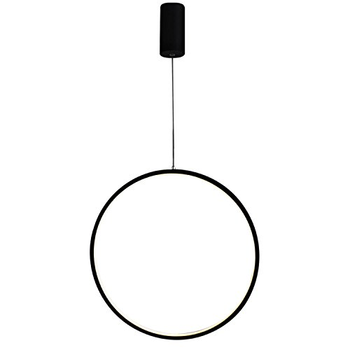 GRFH Runde LED Ring Pendelleuchte Bar Personalisierte kreative Beleuchtung Mode Kunst Fenster Dekorative Pendelleuchten , 60cm white light