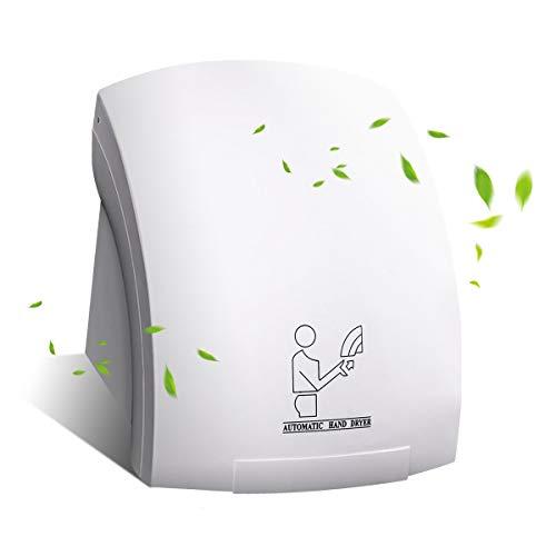 GOPLUS Handtrockner automatisch Wandmontage, Händetrockner elektrisch Toiletten, 2000 W, weiß