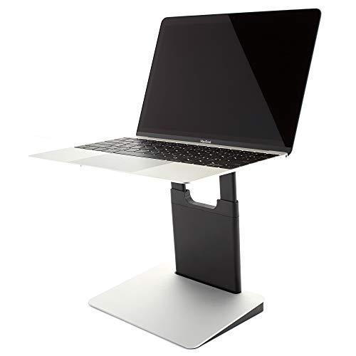 Höhenverstellbarer und tragbarer Laptopständer für PC und MacBook - Tiny Tower Laptopständer (Classic Silver)