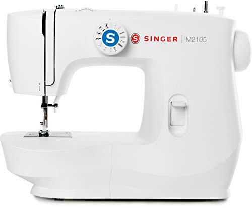 Singer M2105 Macchina da Cucire Professionale, Cucitrice Automatica, Elettrica e Portatile con 13 Funzioni di Cucitura, Cuce Tutti i Tessuti, Cucito Facile per Principianti