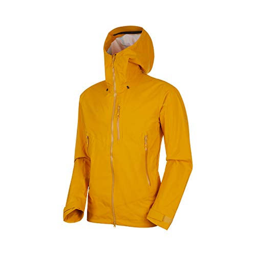 Mammut Herren Kento Hooded Hardshell-Jacke mit Kapuze, golden, M