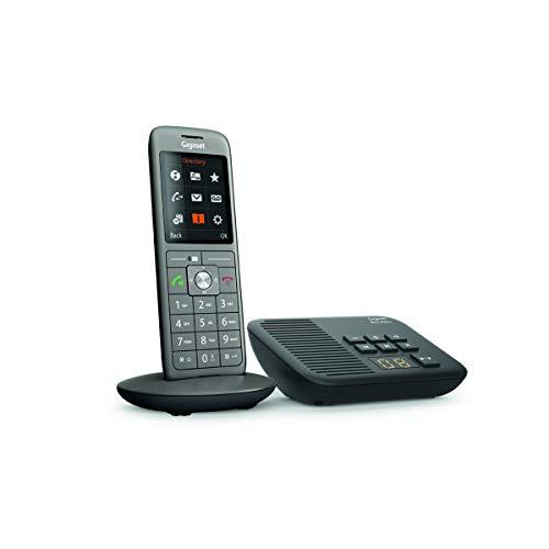 Gigaset CL660A - Schnurlostelefon mit Anrufbeantworter - DECT Telefon - modernes Design Telefon - ein Mobilteil mit TFT-Farbdisplay - großes Adressbuch, anthrazit-metallic