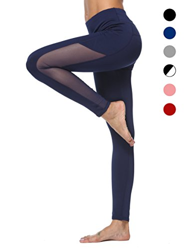 dh Garment Sport leggings Damen hohe Taille Yoga Hose mit Bundtasche – Bauchkontrolle(Größe M