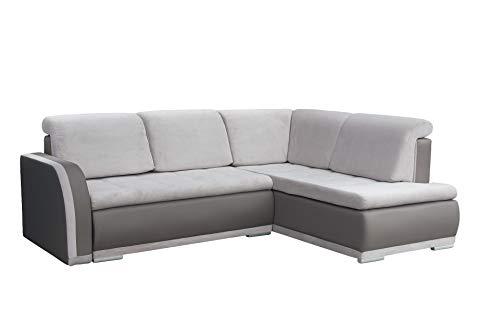mb-moebel Ecksofa Sofa Eckcouch Couch mit Schlaffunktion und Bettkasten Ottomane L-Form Schlafsofa...
