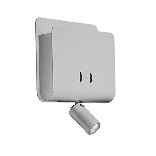 LEDs C4 05-2015-34-34 applique dido 1xled 9w cree 1w cree 1xled gris