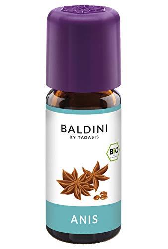 Lebensmittel Anis Öl (Baldini - Anisöl BIO, 100% naturreines ätherisches BIO Anis Öl, Bio Aroma, 10 ml)