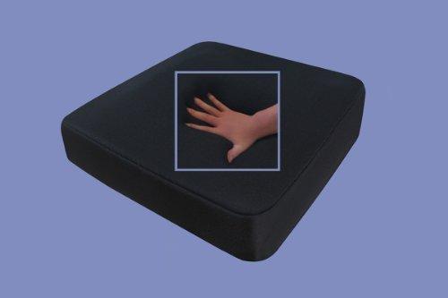 Gel / Gelschaum Sitzkissen / Anti Dekubitus Sitzpolster 40 x 40 x 10 cm SCHWARZ für Rollstuhl / Stuhl / Auto / LKW / Bürostuhl / Chefsessel Kissen Stützkissen Rücken + Gesäß (RG 85 (mittel))