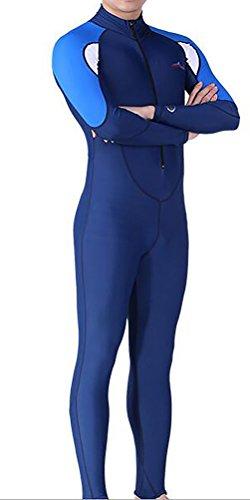SAIL & DIVE Damen Herren Lange Ärmel Tauchanzug Neoprenanzug One Piece UV-Schutz Badeanzug (XXXXL, Herren)