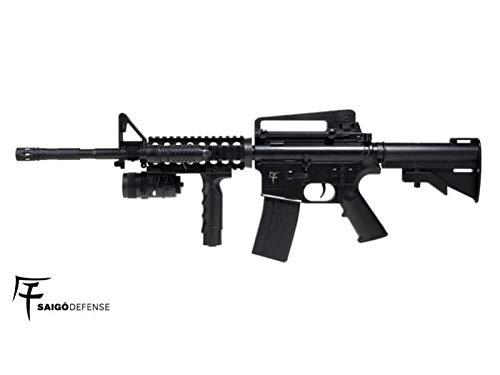 Saigo- Rifle-M4 RIS Defense a muella (Spring) Calibre 6mm. Potencia 0,5 Julios
