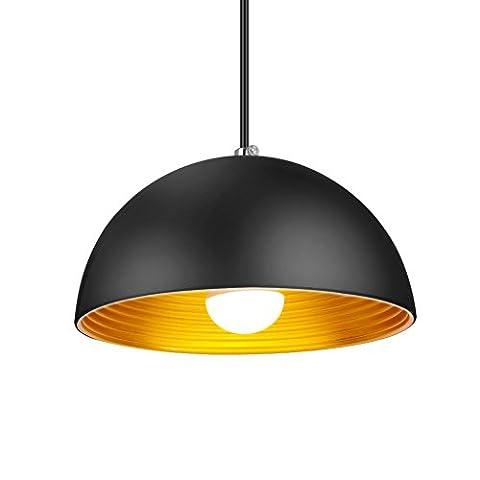 Eletorot Pendelleuchte Hängeleuchte Vintage Metall Hängelampe Lampengestell für Loftwohnung, Bar, Küchen, Hausdeko schwarz