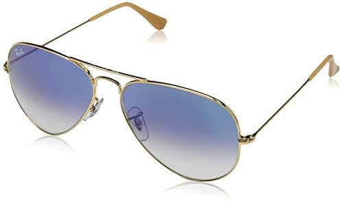 Ray Ban Unisex RB 3025 blau - Blue gradient Mineralglas Sonnenbrille lenses 58 mm