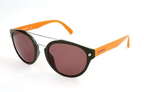 Dsquared2 Unisex-Erwachsene D Squared DQ0255 96J-52-21-145 Sonnenbrille, Schwarz, 52