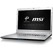 """MSI PE72 7RD-1040XES - Ordenador portátil de 17.3"""" FHD (Kabylake i7-7700HQ, RAM de 16 GB DDR4, HDD de 1 TB y SSD de 256 GB, Nvidia GeForce GTX 1050, sin sistema operativo) color plata"""