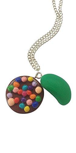 Candy Crush Inspiriert Und Jelly Bean Jazzy Halskette Chocolate, Grün (Jelly Bean Charme)
