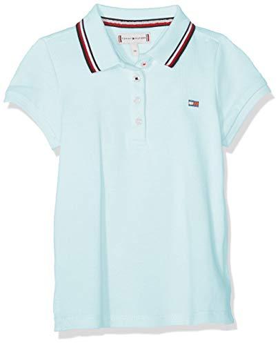 Tommy Hilfiger Tommy Hilfiger Baby-Mädchen Poloshirt Essential Polo S/S Blau (Blue Light 483), (Herstellergröße: 86)