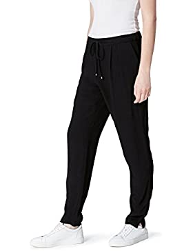 FIND Pantalón Fluido Estilo Jogger con Pinzas para Mujer