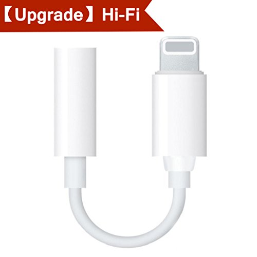 Headphone Lighting Adapter for iPhone Adapter for iPhone Dongle Audio Lighting Jack Earphone Adaptor for iPhone 8/8Plus iPhone 7/7Plus iPhone X/10 iPod/iPad Lightning Connector Lighting to 3.5mm Music AUX Jack Earphone Extender Jack Stereo Accessories Headphone Hi-Fi Audio Adaptor Music Splitter Cables Female Audio Adapter Earphone convertor-Support IOS11.3 or Later - [ White ]