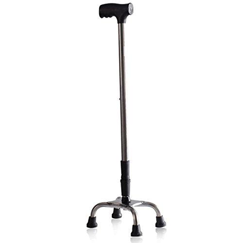 NSHK Thicked Stainless Steel Walking Sticks Mit 4-Bein Rutschfeste Base 8 Gears Einstellbare Höhe 69-87Cm Faltbare Cane 1 - Faltbare Cane Quad