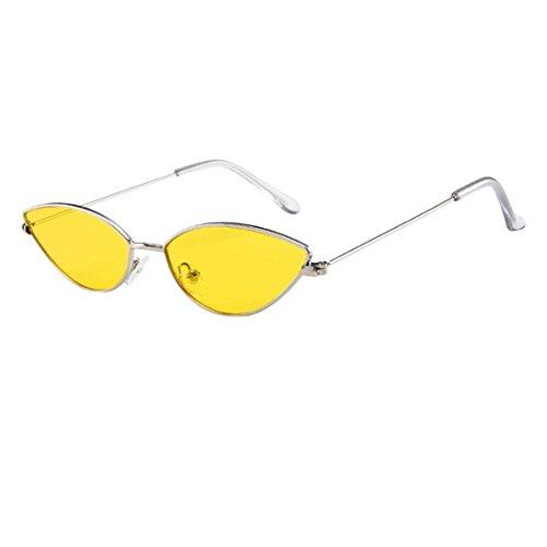 Dragon868 Sonnenbrille Damen Herren Cateye Kleine Rahmen Oval Retro Vintage Sonnenbrille Brillen (C)
