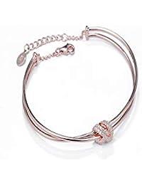 Zilverine BIS Hallmarked 925 Sterling Silver Rose Gold Grace Bracelet for Women - Elegant Design - Durable & Non-Allergic - Perfect for Anniversary/Birthday Gift