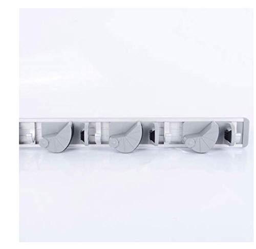 Dsggyjg scopa portautensili da cucina, 4 posizioni con 5 ganci organizer portaoggetti a parete, portaoggetti scopa e scopa w