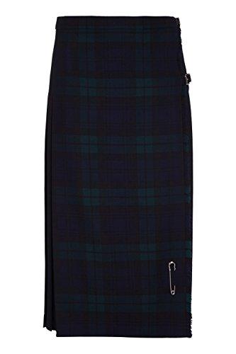 cb09b3f8cd Oxfords Cashmere Long Kilt pour Femmes en pure Laine. Tartan Black Watch.  (Vert