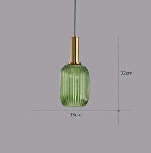 Moderne Nordic-Anhänger Lighst Glaskugel-hängende Lampe Hanglamp Küche Licht Leuchte Gastronomie Wohnzimmer Leuchtenglas Beleuchtung, Ein grünes Glas # 414 (Anhänger Beleuchtung Grün)