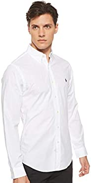 Polo Ralph Lauren Men's Stretch Poplin Sport Shirt Slim fit Classic Long Sl