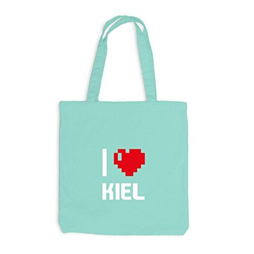 Mint Jutebeutel Love Heart Pixel Reisen Deutschland Herz Kiel I wFwq1C