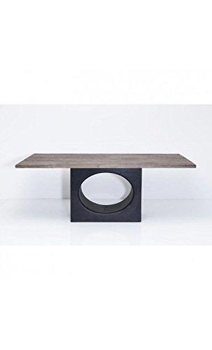 Kare design - Table à manger 200 cm bois clair et acier WILDERNESS