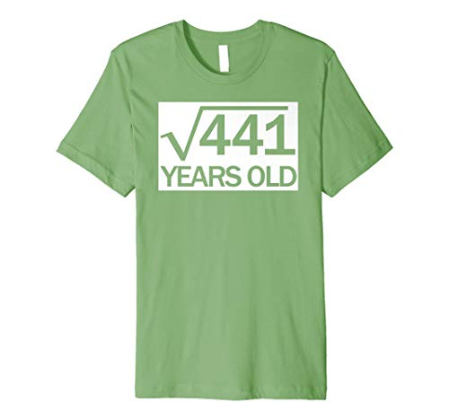 Square Root Of 441 21 Years Old 21st Birthday T Shirt Gift