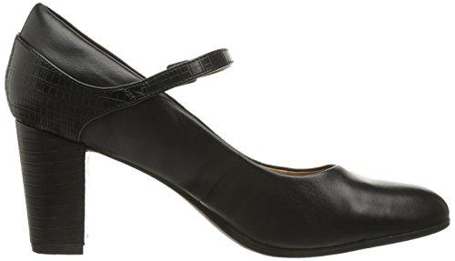Clarks Bavette Cathy Kleid Pump Black Leather/Crocodile