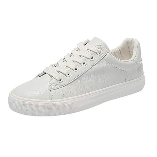 Make Fortune 2019 Damen Mode Breathable vulkanisierte Schuhe Leder Lace Up Student Casual Sneakers Student Schuhe weiße Schuhe Ananas Druckmuster Mode Persönlichkeit