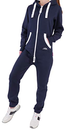 EH3 Finchgirl Damen Jumpsuit Jogging Anzug Trainingsanzug Overall Navy - Waschmaschine Kostüm Anleitung